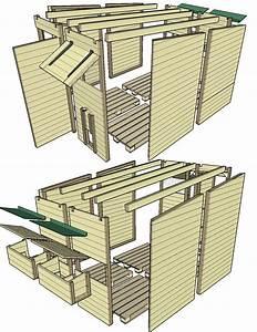 construction d39un poulailler en palettes modulable plan With maison en palette plan