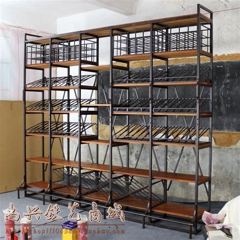 american country style wrought iron wine rack wine cooler wood racks shelf display shelves grid