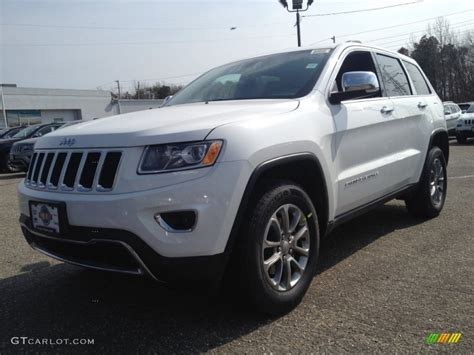 2014 Bright White Jeep Grand Cherokee Limited 4x4