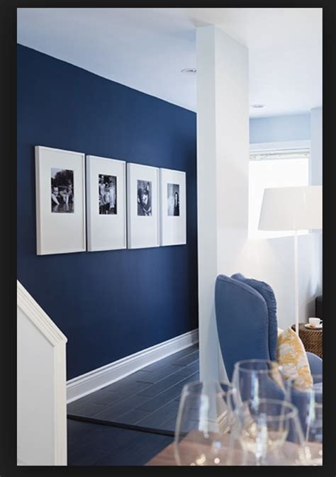 navy feature wall andreas  apartment navy blue