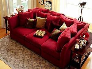 Fancy deep comfy couch 95 in contemporary sofa inspiration for Deep red sectional sofa