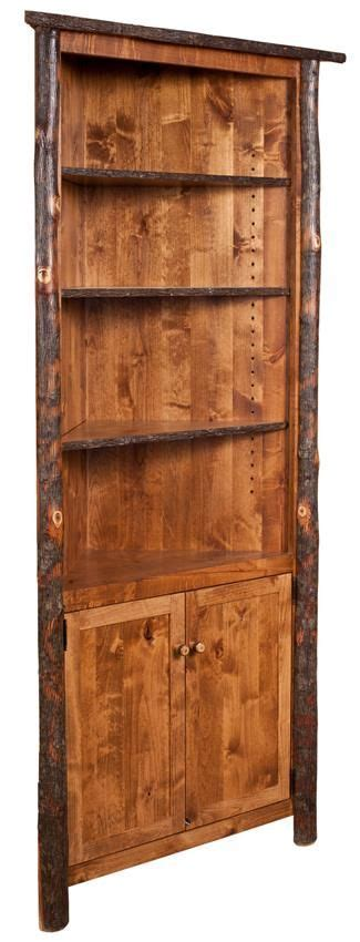 Amish Rustic Hickory Corner Hutch   Hutches   Pinterest