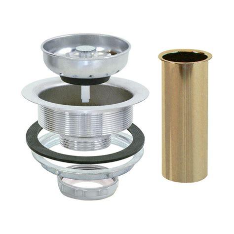 install sink strainer tailpiece ez flo 4 1 2 in sink strainer with brass tailpiece