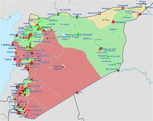 updated map of aleppo With syria war template