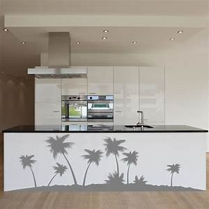palm tree isle wall decal sticker With kitchen cabinets lowes with tree sticker