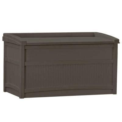 Suncast Deck Box Home Depot by Suncast 50 Gal Resin Deck Box Db5500j The Home Depot