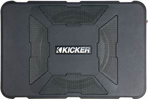 Kicker 11hs8 Hideaway U2122 Compact Powered Subwoofer  150 Watts And An 8 U0026quot  Sub