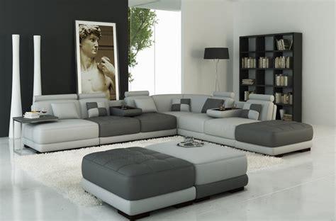 canapé d 39 angle en cuir italien 7 8 places elixir gris