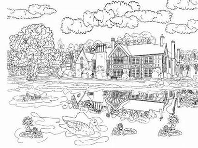 Scenery Colouring Coloring Adults