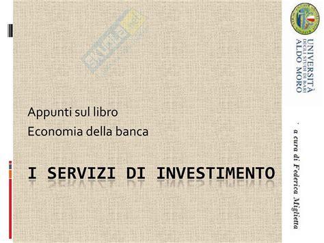 economia degli intermediari finanziari dispense economia degli intermediari finanziari servizi