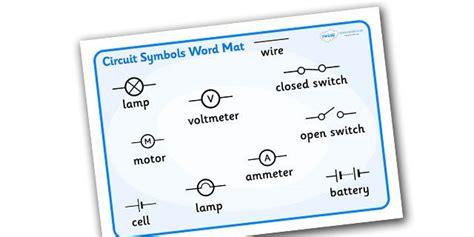 electricity circuit symbols word mat circuits