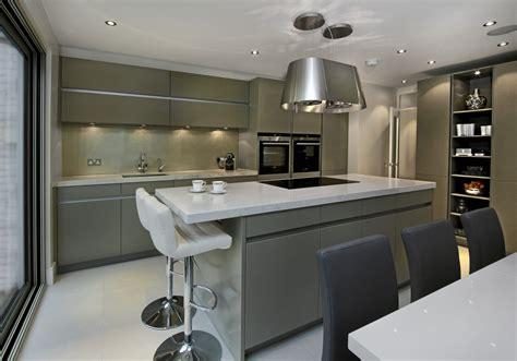narrow kitchen island ideas leicht kitchens designer showroom fulham elan