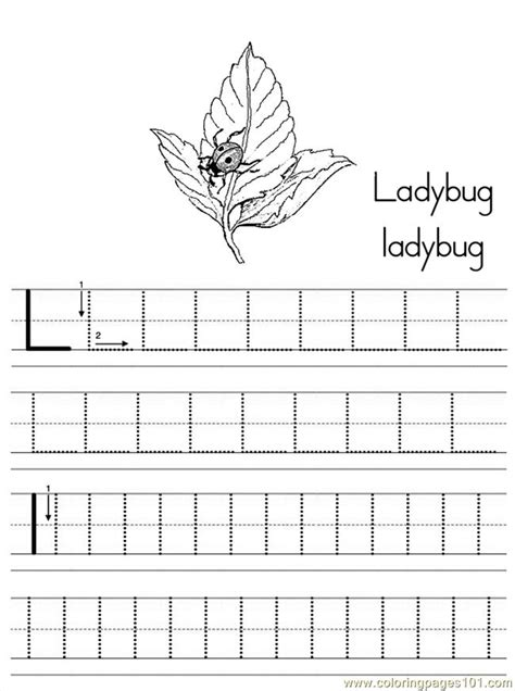 alphabet abc letter  ladybug coloring pages