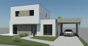 cube 115 hci constructions With maison bois toit plat 15 cube 180 hci constructions