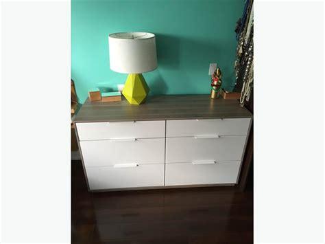 kitchener furniture ikea askvoll dresser 6 drawers condition saanich