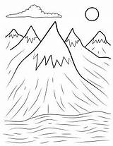 Mountains Mountain Coloring Pages Appalachian Template Henry Copy Printables Range Rocky Prints Getdrawings Templates sketch template