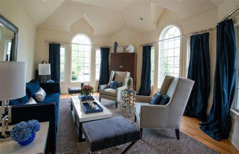 blaues sofa  einrichtungsideen mit sofa  blau die