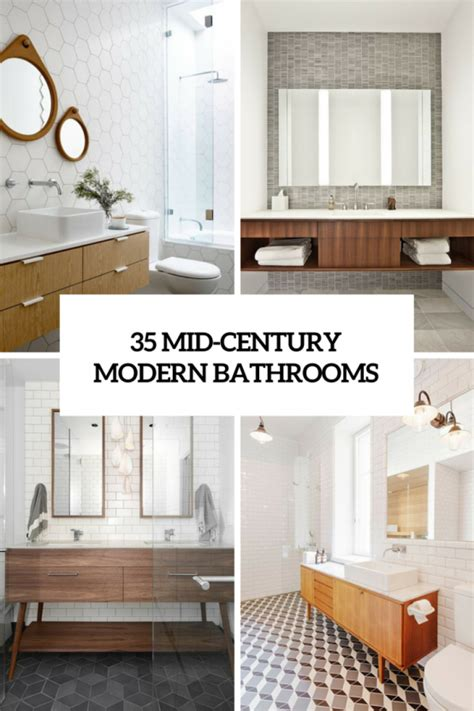 Mid Century Modern Bathroom Sinks by 35 Trendy Mid Century Modern Bathrooms To Get Inspired
