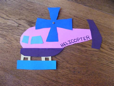 We Cut Out And Glued Together Pieces Of A Helicopter For H