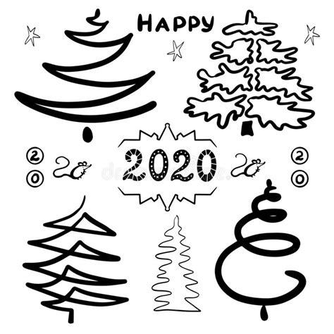 clipart anno nuovo feste felici di buon natale illustrazione vettoriale