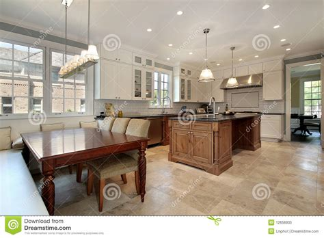 kitchen  eating area  bench stock image image