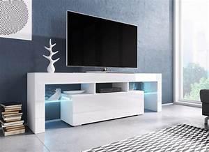 Tv Schrank Weiß : tv board lowboard schrank fernseherschrank hochglanz real ~ Frokenaadalensverden.com Haus und Dekorationen