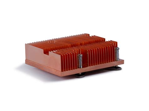 custom copper heat sink thermo cool skived copper heatsink with backplate and