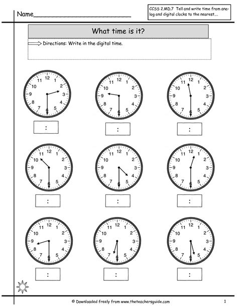 clock worksheets telling time to nearest half hour