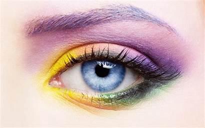 Eye Eyes Colorful Close Human Eyelash Care