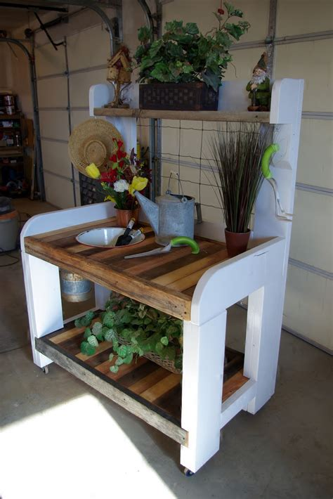 reclaimed rustics rustic potting bench