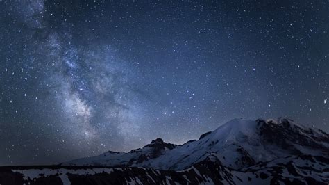 Wallpaper For Iphone Plus Mount Rainier Over The Galaxy Windows 10 Wallpaper Preview 10wallpaper Com