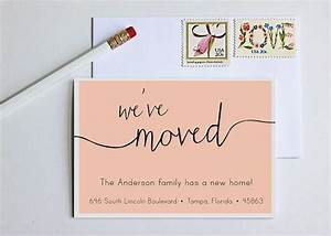 best 25 new address cards ideas on pinterest change of With moving home cards template