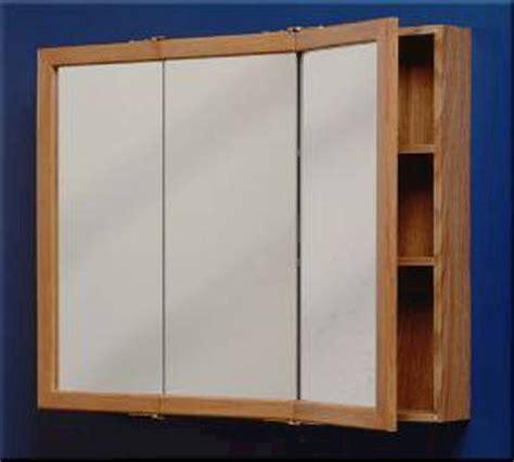 zenith 24 quot oak tri view medicine cabinet at menards