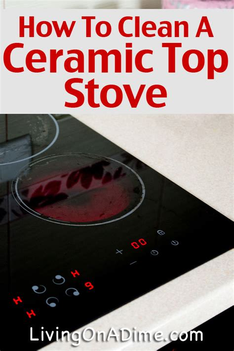 how to clean a stove top how to clean a ceramic top stove step by step