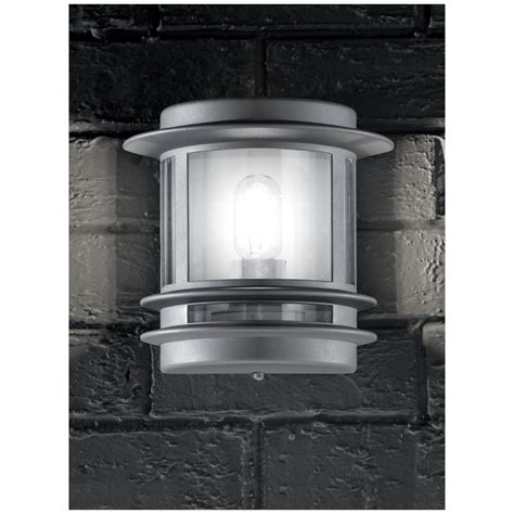 franklite ext6211 barbican silver outdoor flush wall light