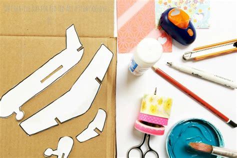 cardboard airplane craft  creative day