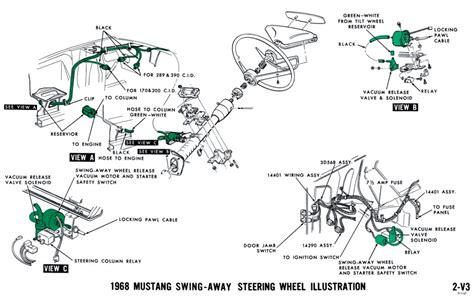 1967 Mustang Vacuum Diagram by 1968 Mustang Wiring Diagrams And Vacuum Schematics