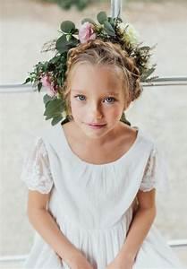 Robe Boheme Fille : robe boh me chic enfant pour mariage et c r monie notre robe manon ivoire est en cr pe de coton ~ Melissatoandfro.com Idées de Décoration