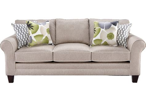 sleeper sofa rooms to go lilith pond taupe sofa sofas beige