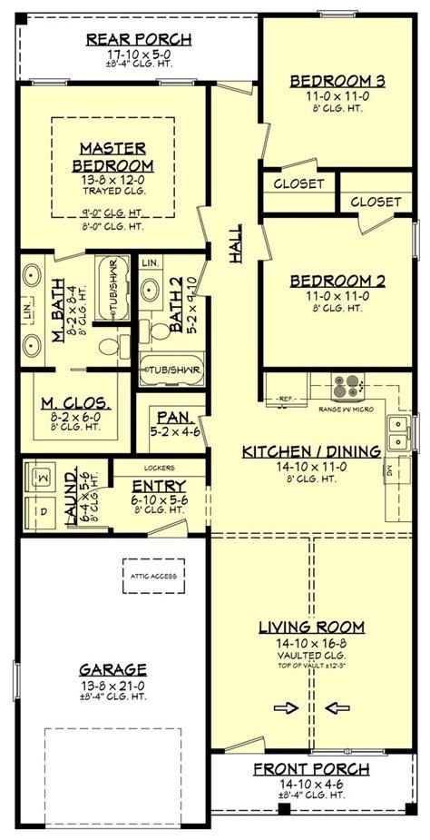 Farmhouse Style House Plan 3 Beds 2 Baths 1292 Sq/Ft