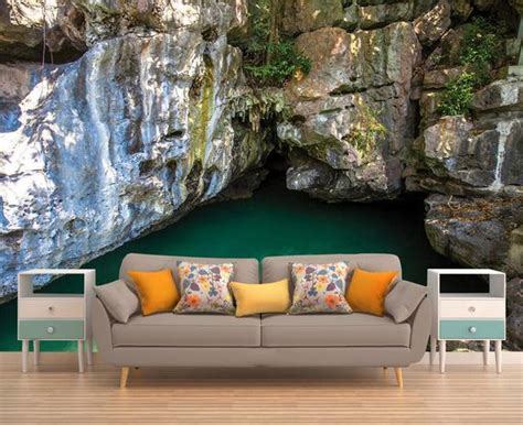 Wall Mural Cave Peel And Stick Wallpaper Removable Wall Etsy