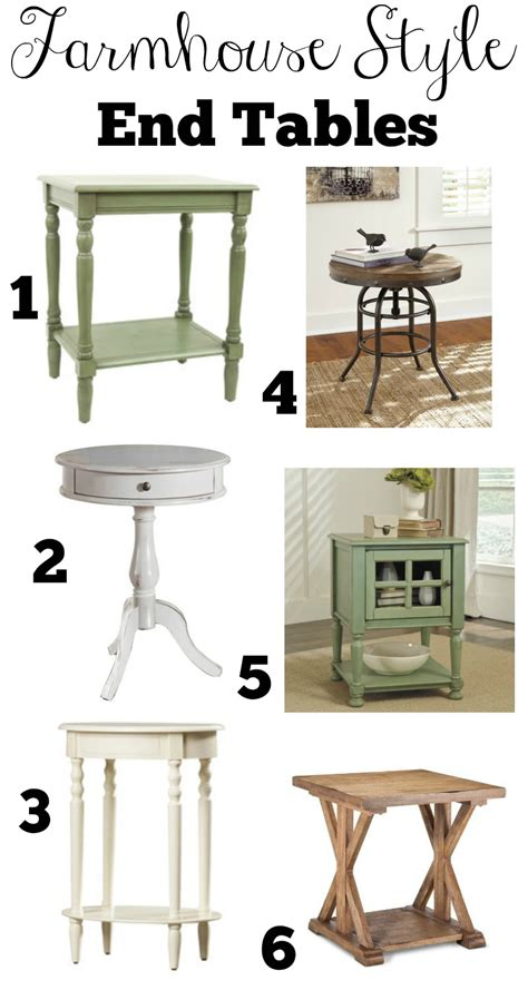 farmhouse style end tables transitioning to farmhouse style complete shopping guide