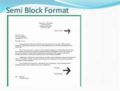 Business Letter Formats Semi Block Formal Letter Format Formal Letter Bussiness Letter Romyputra Example Of Semi Block Style Letters Cover Letter Templates