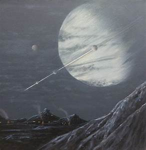Life on the Moon of a Gas Giant by Lucyjain on deviantART