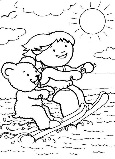 Coloring Pages Of Water by N 9 Coloring Pages Of Water Skiing