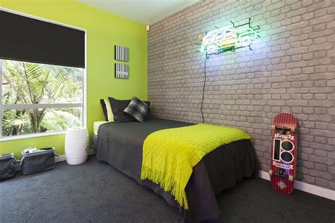final reveal  zingy lime green wall teamed  cool