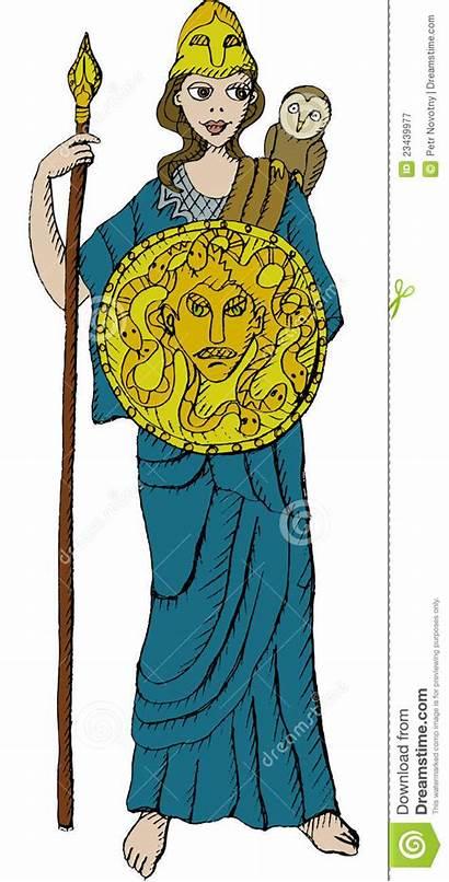 Athena Goddess Clipart Minerva Greek Vector Illustration