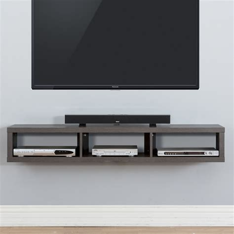 Tv Regal Wand by Shallow Wall Mounted Tv Stand For Tvs Up To 69 Quot New