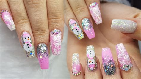3d Nail Art Christmas Trees From