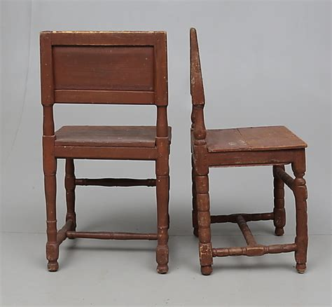 8 swedish antique chairs barockstyle peasant 1800s
